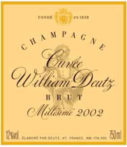 Cuvee William Deutz 2002-EN